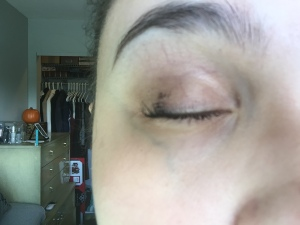 What is that?! Mascara all over my eyelid.
